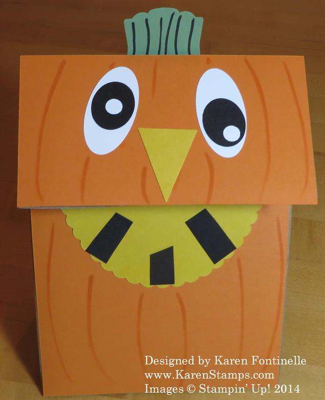 Lunch Sack Halloween Pumpkin