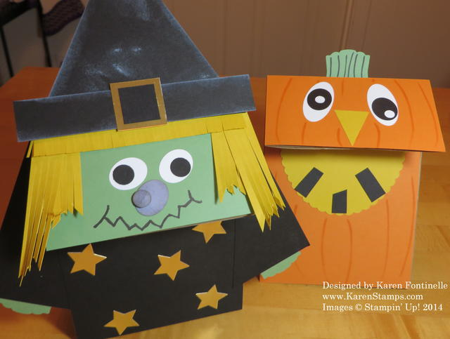 Lunch Sack Halloween Witch and Pumpkin