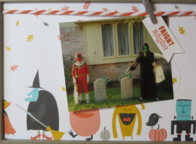 Motley Monsters Framed Halloween Picture Closeup