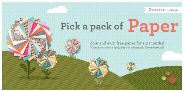 Join Stampin' Up! and Pick A Pack of Paper