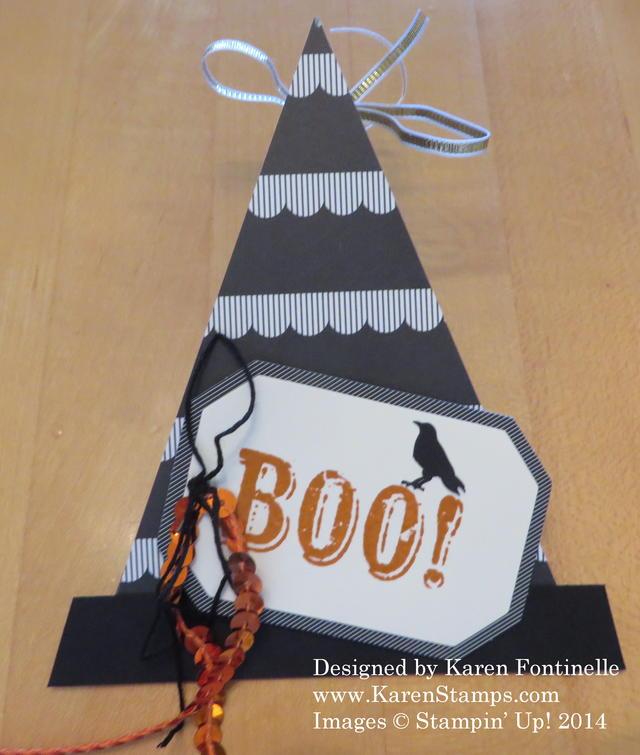 Triangle Box Witch's Hat Treat Box
