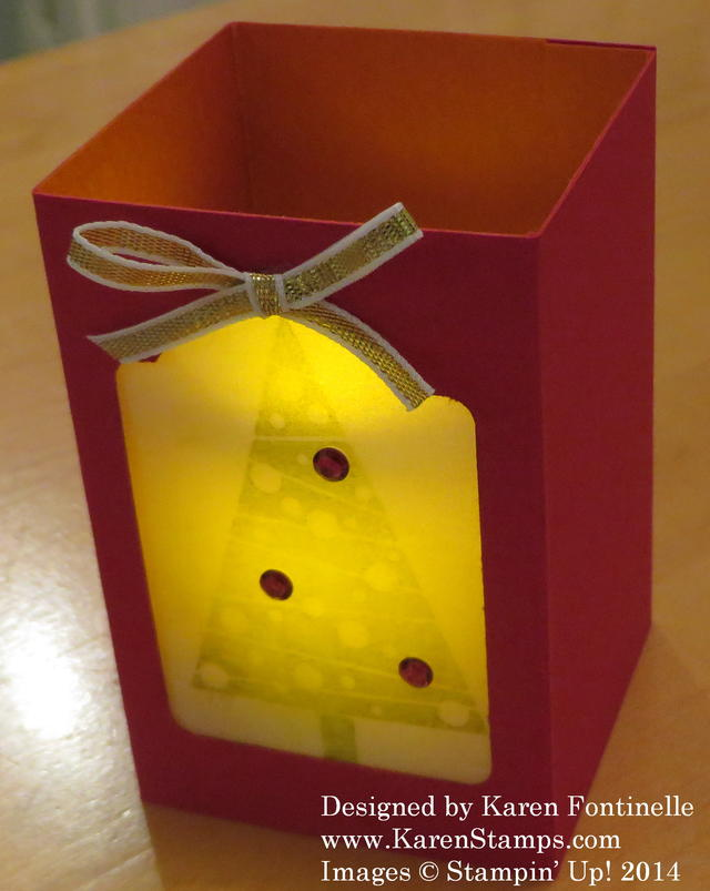 Votive Holder Lit