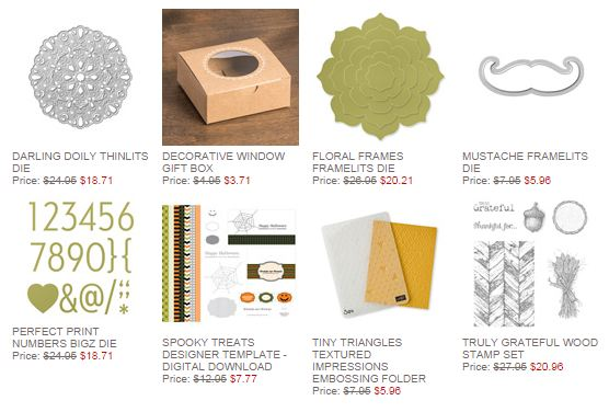 Stampin' Up! Weekly Deal Oct 14 2014