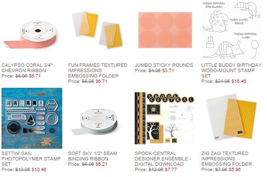 Stampin' Up! Weekly Deal Oct 21 2014