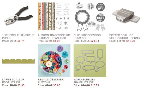Stampin' Up! Weekly Deal Oct 28 2014