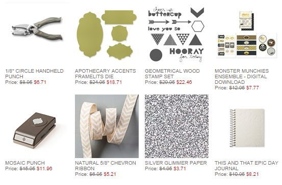 Stampin' Up! Weekly Deals Oct 7 2014
