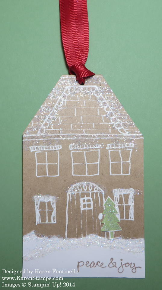 Christmas Snowy House Tag