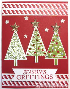 Festival of Trees Red Christmas Card