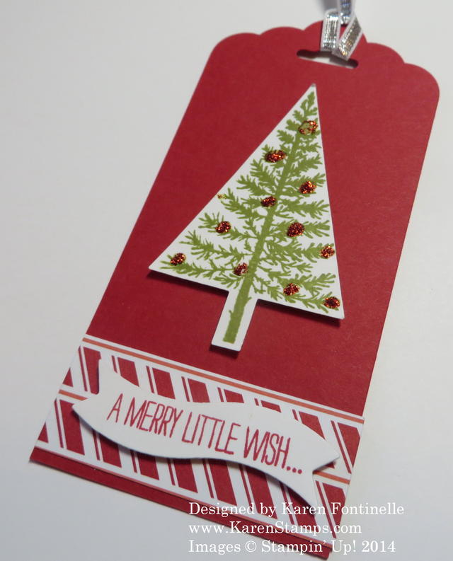 Festival of Trees Red Christmas Tag