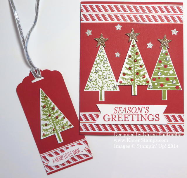 Festival of Trees Tag and Christmas Card