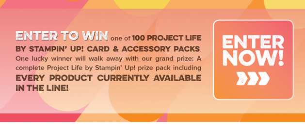 Project Life by Stampin' Up! Enter to Win