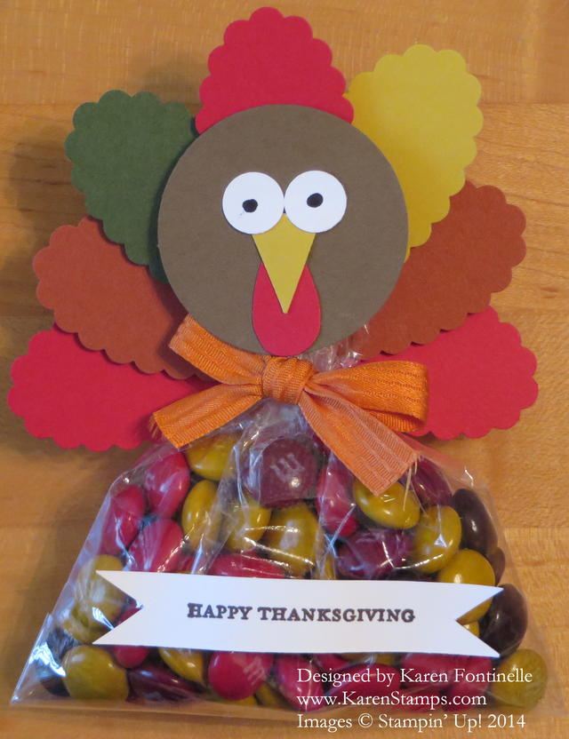 Thanksgiving Turkey Candy Favor