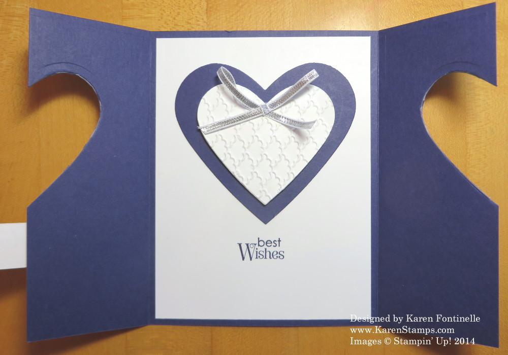 Wedding Anniversary Card withHeart Framelits Inside