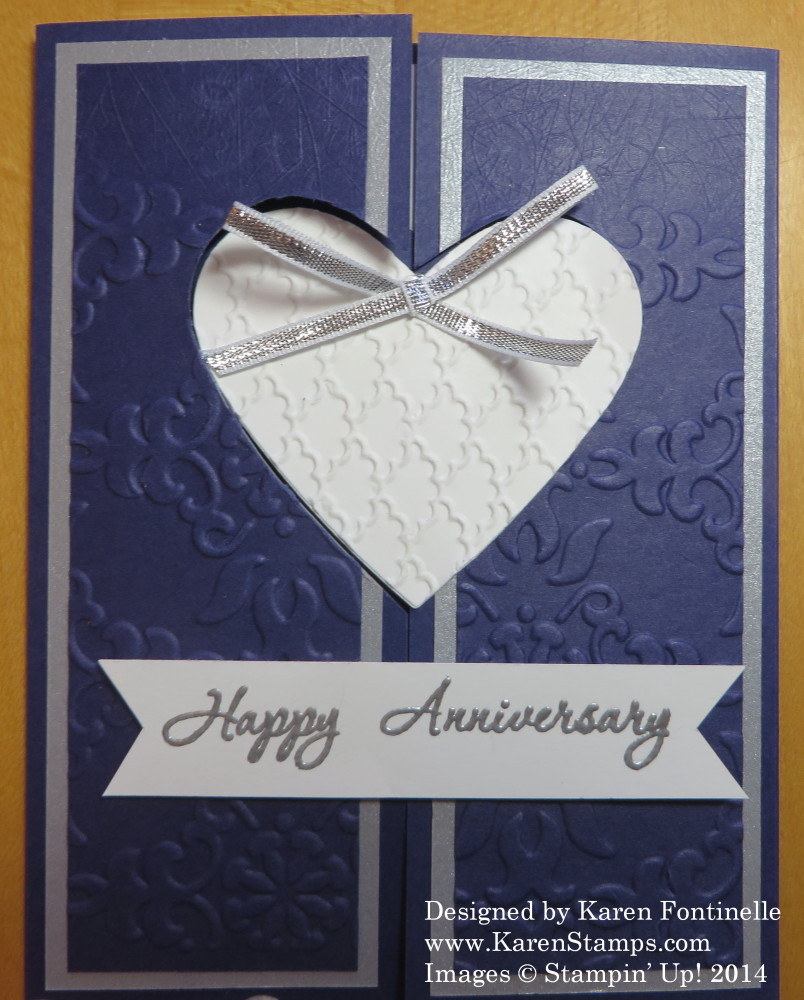 Wedding Anniversary Card with Heart Framelits