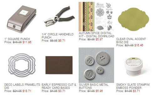 Stampin' Up! Weekly Deal Nov 18 2014