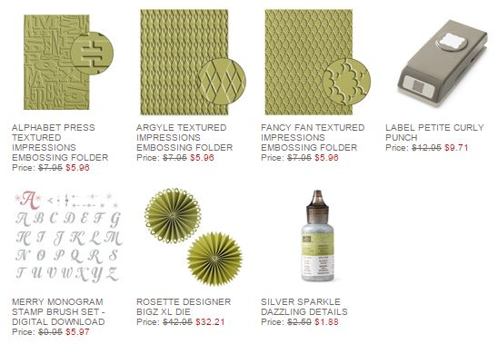 Stampin' Up! Weekly Deal Nov 25 2014