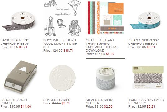 Stampin' Up! Weekly Deal Nov 4 2014