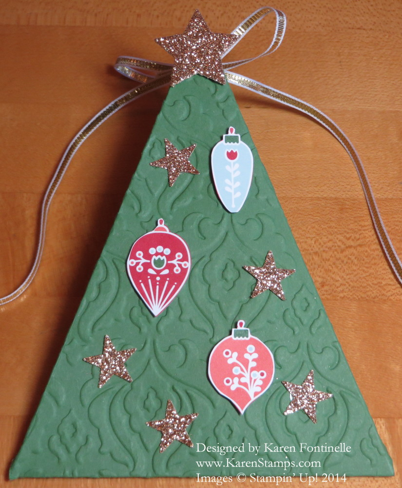 Christmas Tree Triangle Box
