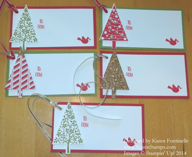 Festival of Trees Christmas Tags