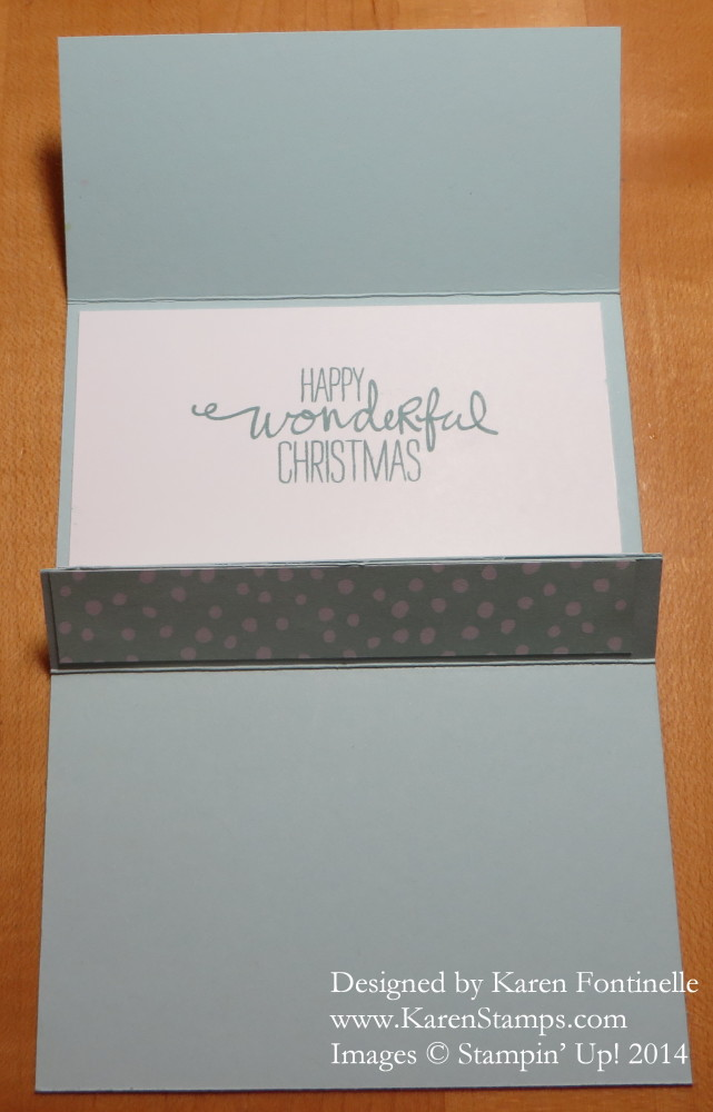 Gift Card Holder Greeting Inside