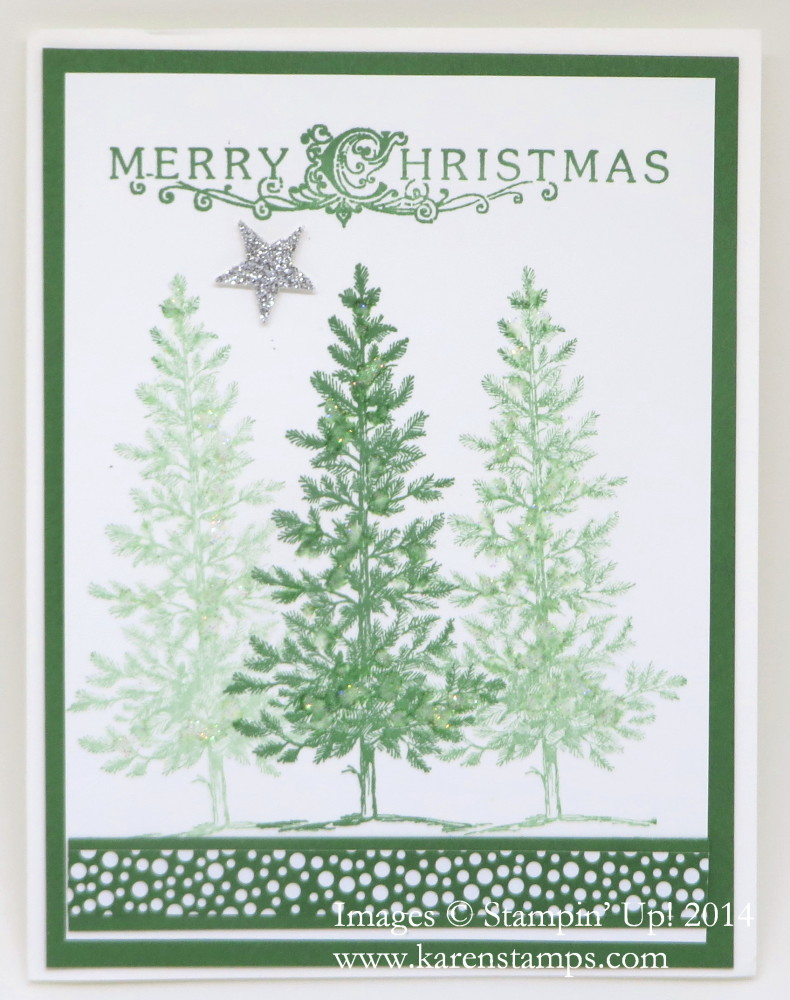 Lovely As a Tree Classic Christmas Card