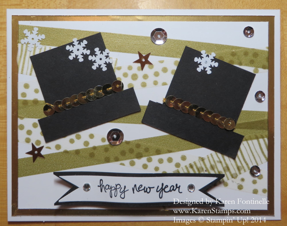 New Year's Eve Party Hats Card