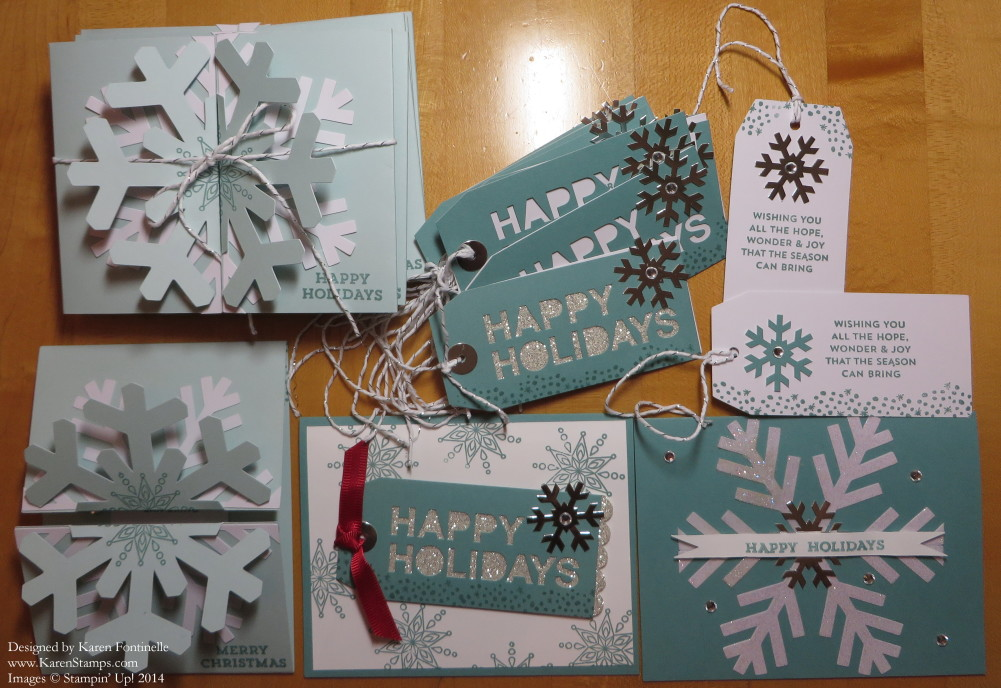 November Paper Pumpkin Christmas Cards and Tags