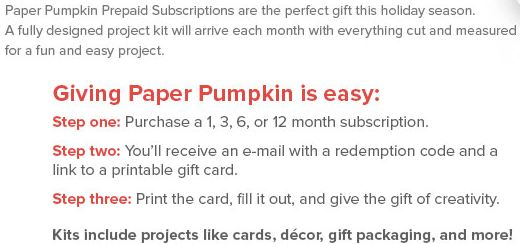 Paper Pumpkin Subscription Steps
