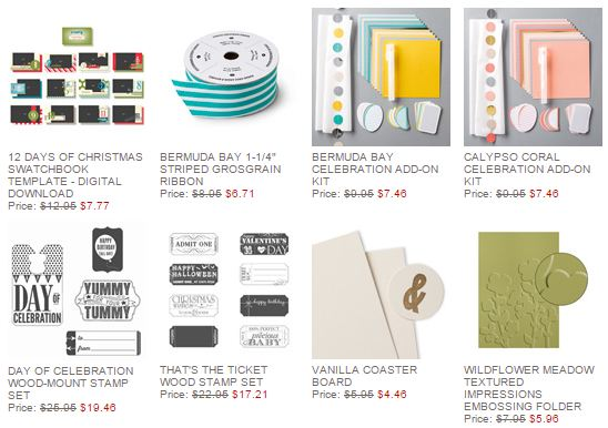 Stampin' Up! Weekly Deal Dec 2 2014