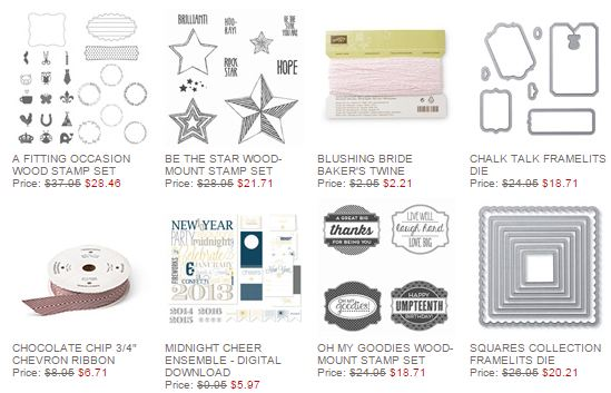 Stampin' Up! Weekly Deal Dec 23 2014