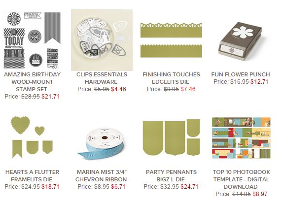 Stampin' Up! Weekly Deal Dec 30 2014
