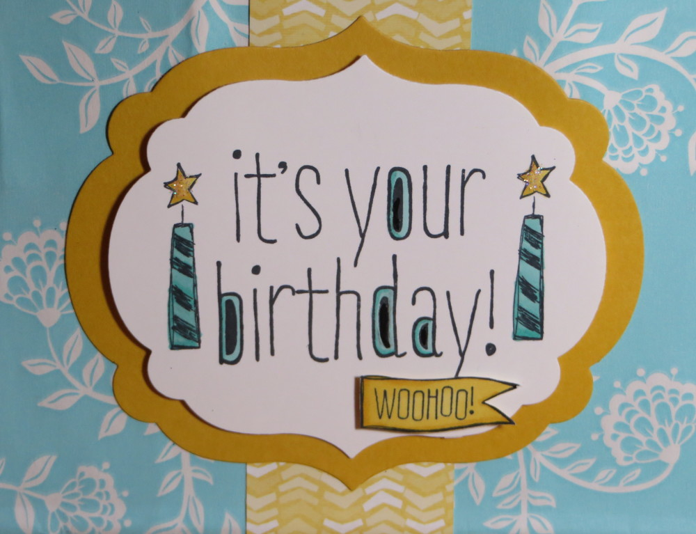 Altered Birthday Gift Bag Label Die