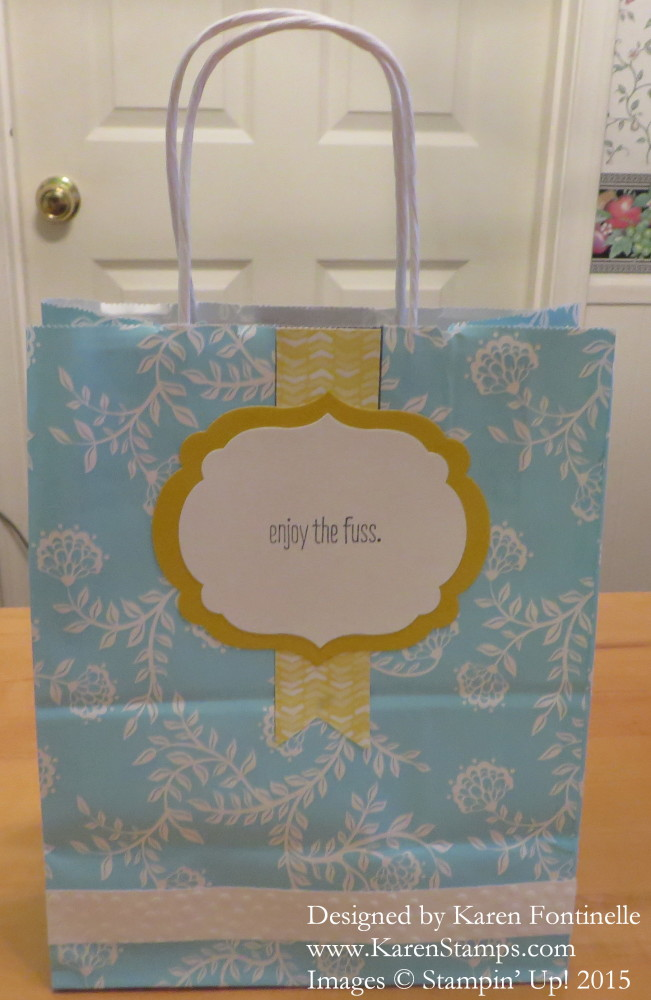 Altered Birthday Gift Bag back label