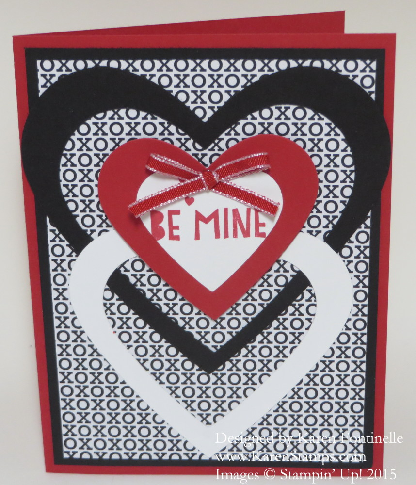 Easy Red, Black and White Valentine Card