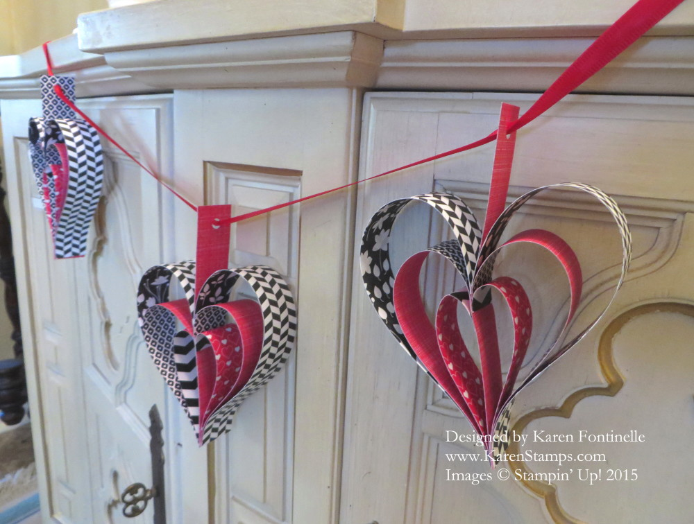 Heart Garland Hanging