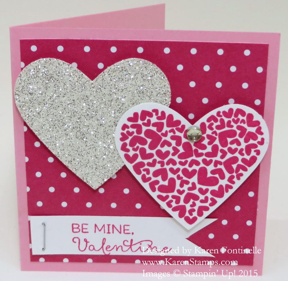Two Hearts 3 x 3 Valentine