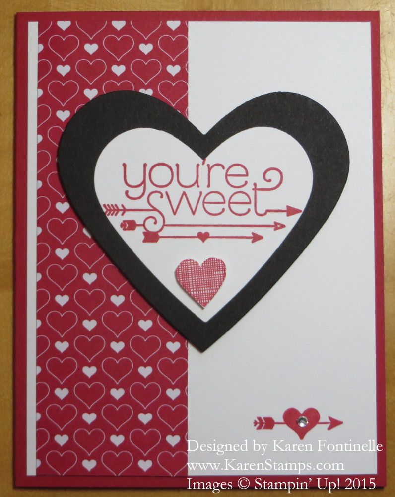 You Plus Me Heart Card