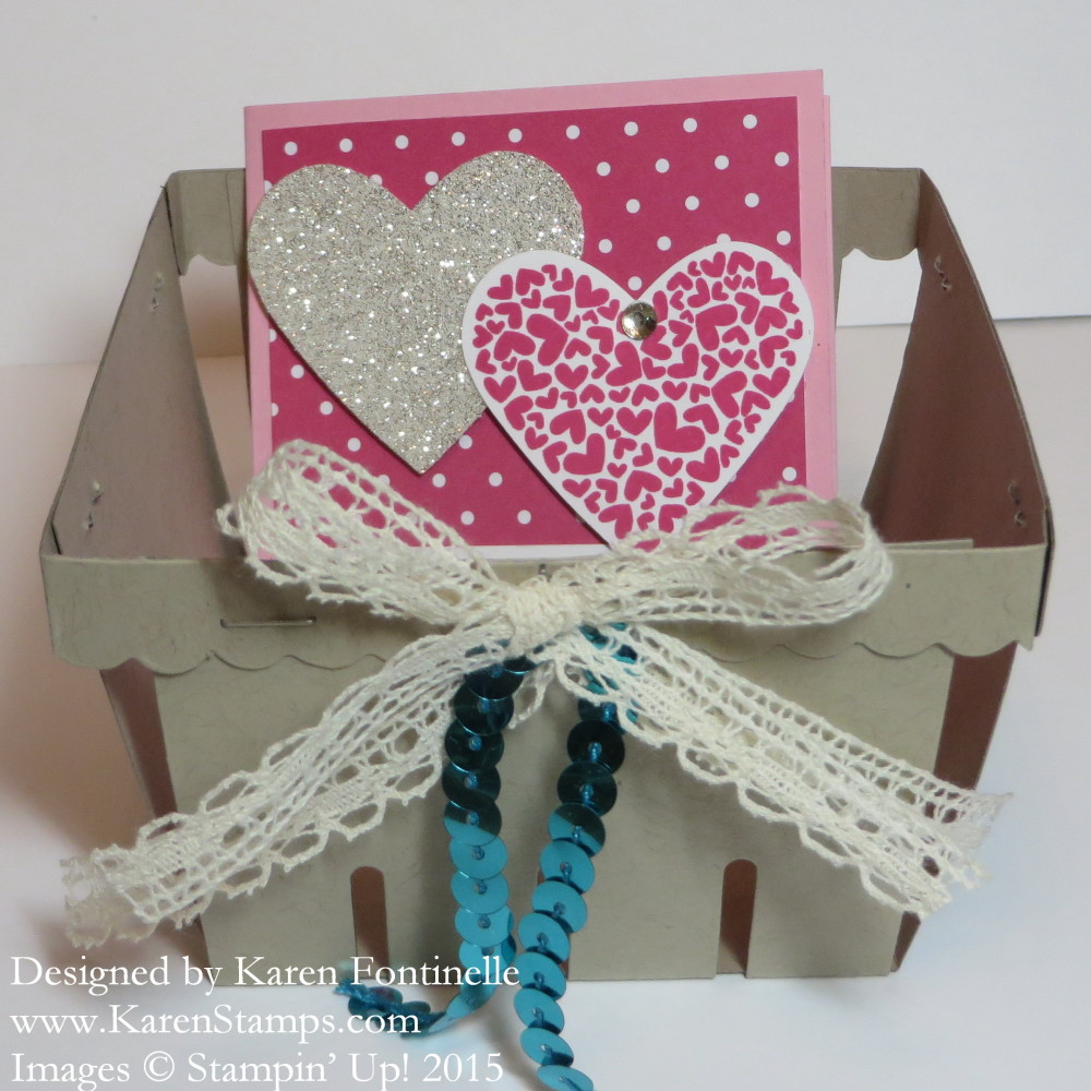 Berry Basket Card Holder 3x3