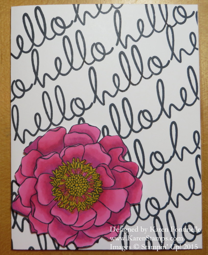 Blended Bloom Hello Card