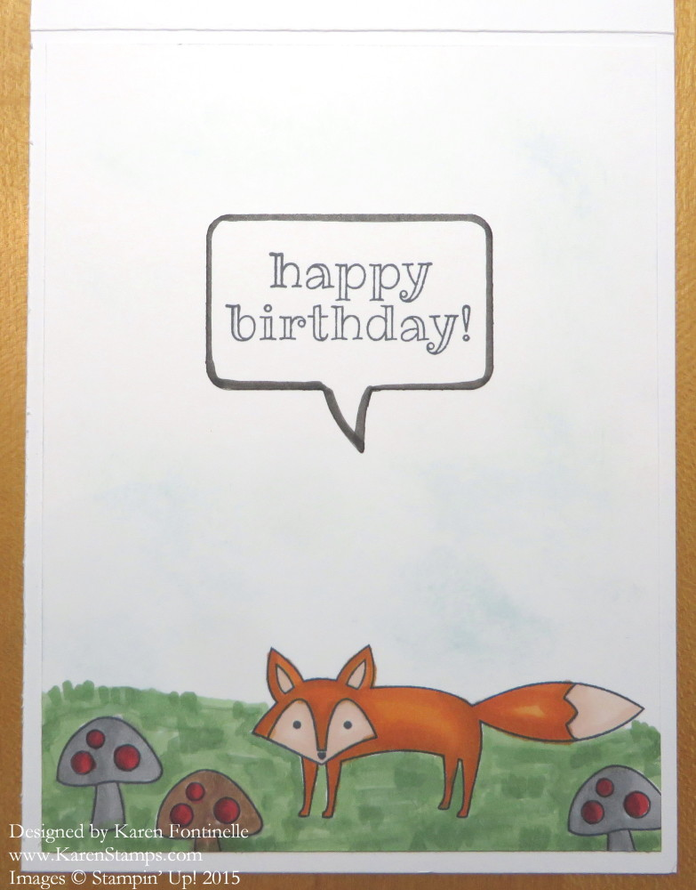 Fox Birthday Card inside