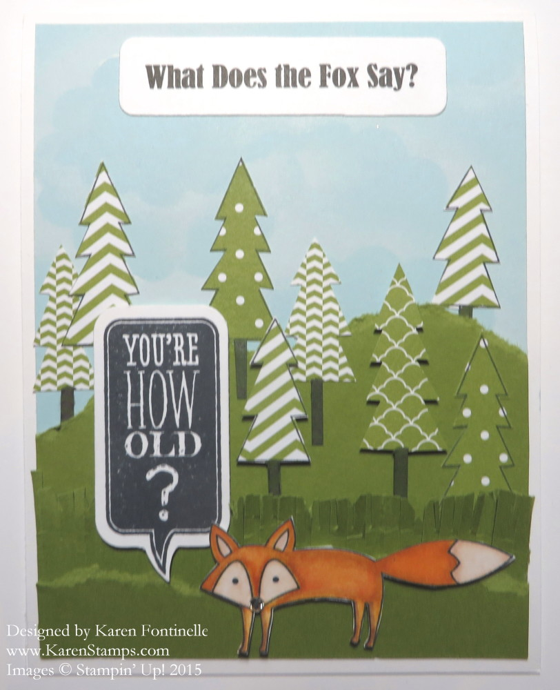 A Foxy Birthday Card