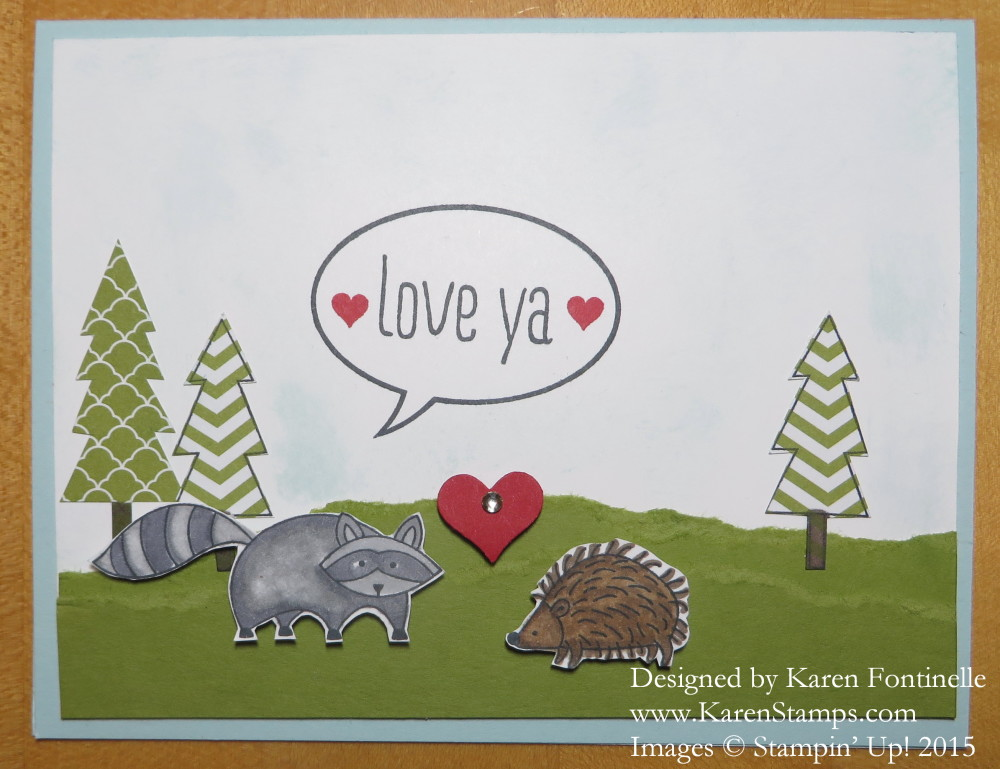 Life in the Forest Valentine Card