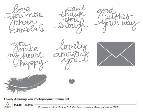 Lovely Amazing You Photopolymer Stamp Set