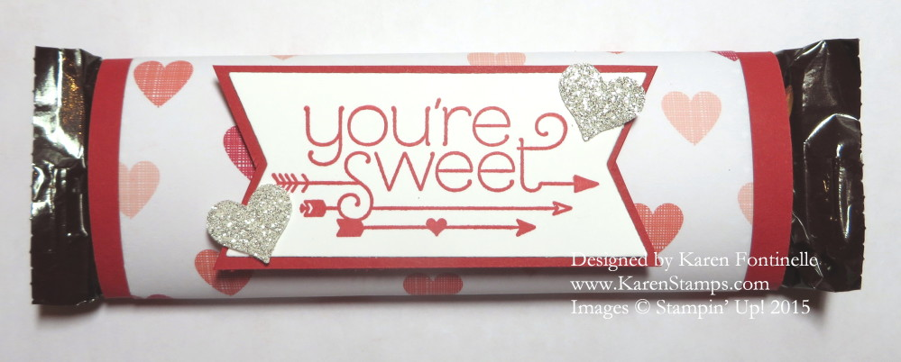 Valentine Candy Bar Treat