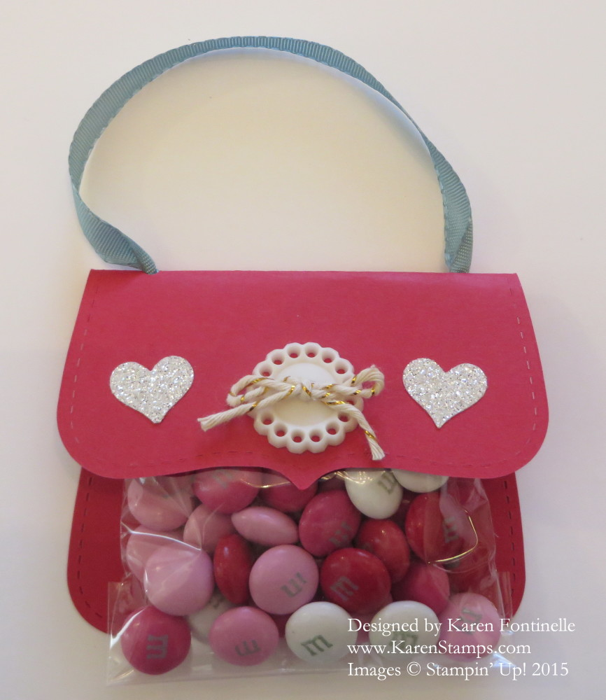 6678ea3f55 Quick and Easy Valentine Top Note Purse Candy Treat Bag | Stamping ...