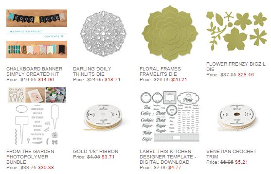 Stampin' Up! Weekly Deal Feb 10 2015