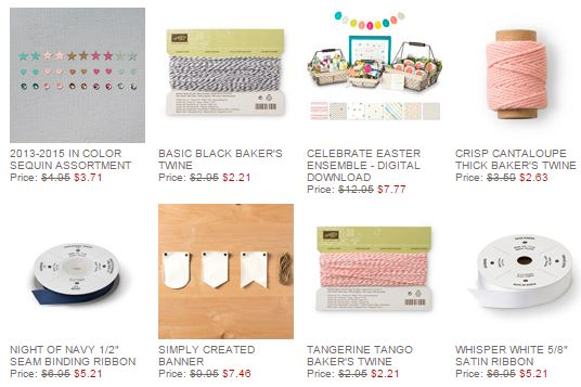 Stampin' Up! Weekly Deals Feb 24 2015
