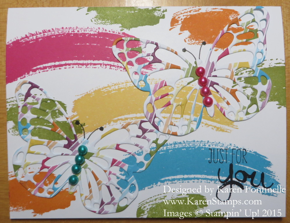 Work of Art Butterfly Thinlits Card