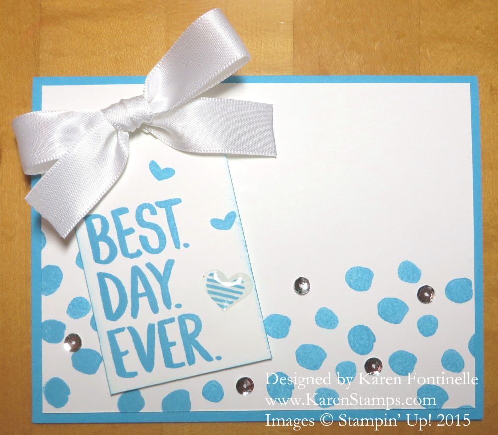Best Day Ever Dot Card