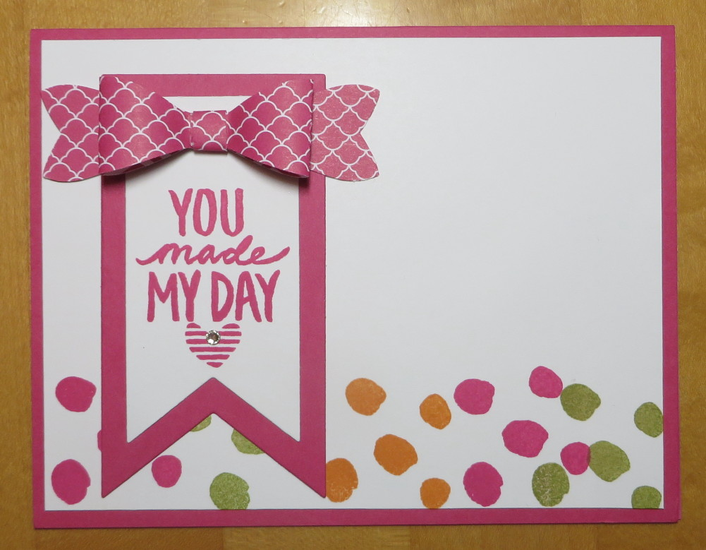 Best Day Ever Polka Dot Bow Punch Card
